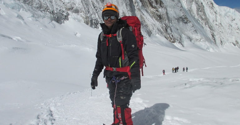 Arunima Sinha climbing Mount Everest
