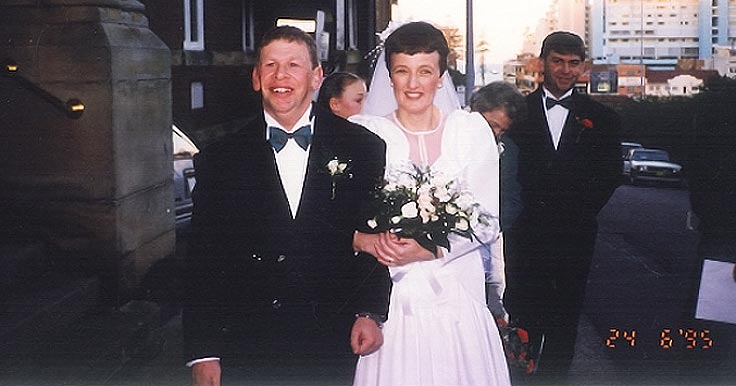 Colin and Julie at their wedding