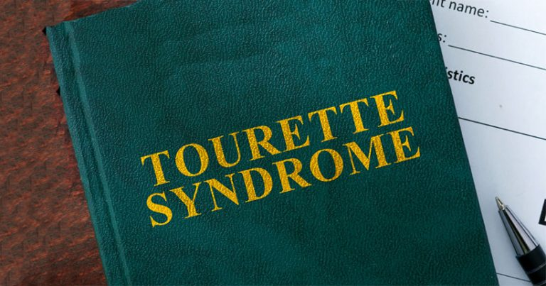 Graphic of the words 'Tourette syndrome'