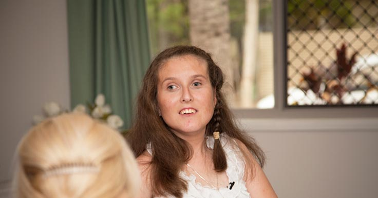 Aruma disability services customer and advocate, Rachel