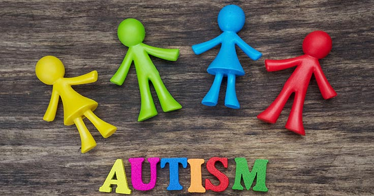 Colourful blocks spelling out the word autism
