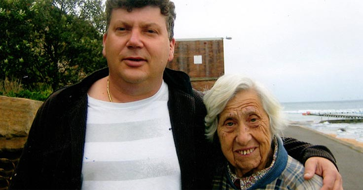 Tony, who left House with No Steps a gift in her Will, with her close friend Allan