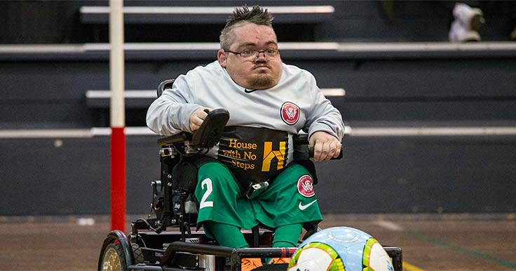 Player in the Western Sydney Wanderers Powerchair Team