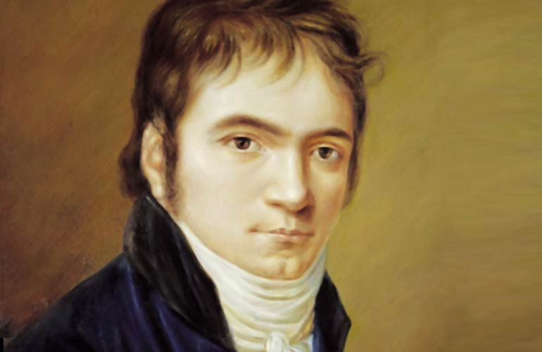Painting of Beethoven as a young man