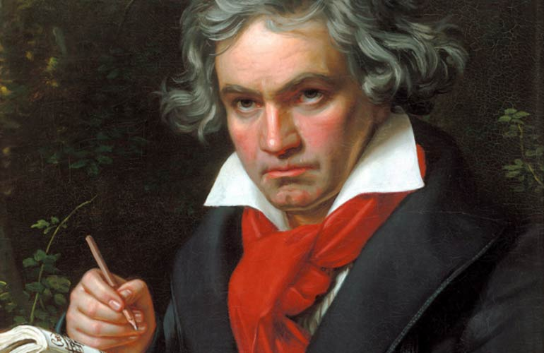 Beethoven writing down music