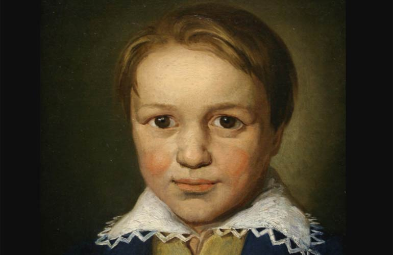Painting of Beethoven as a young boy
