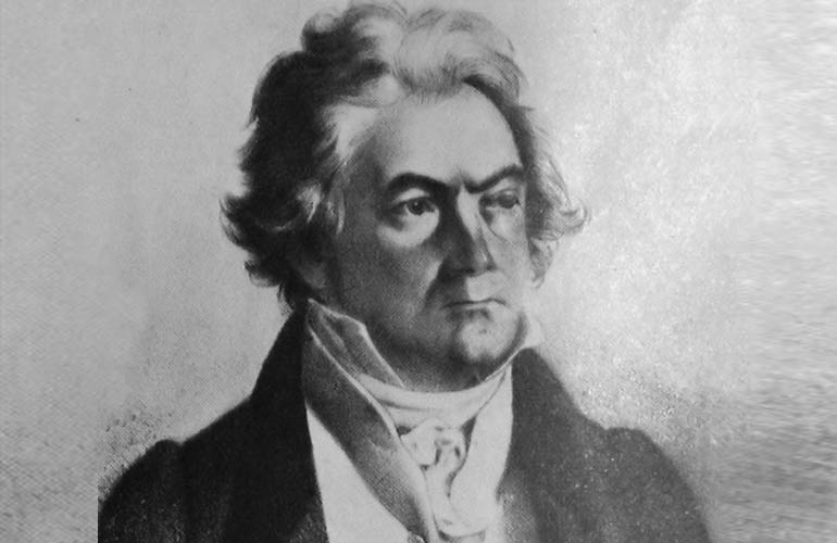 Portrait of Beethoven later in life
