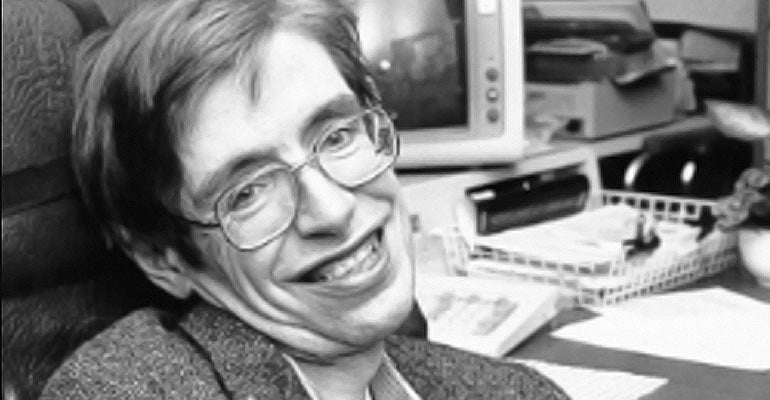 Stephen Hawking at Nasa in the 1980s