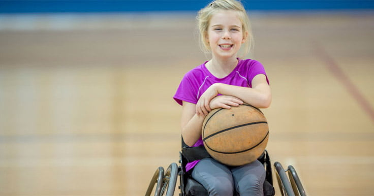 Myths about cerebral palsy girl in wheelchair