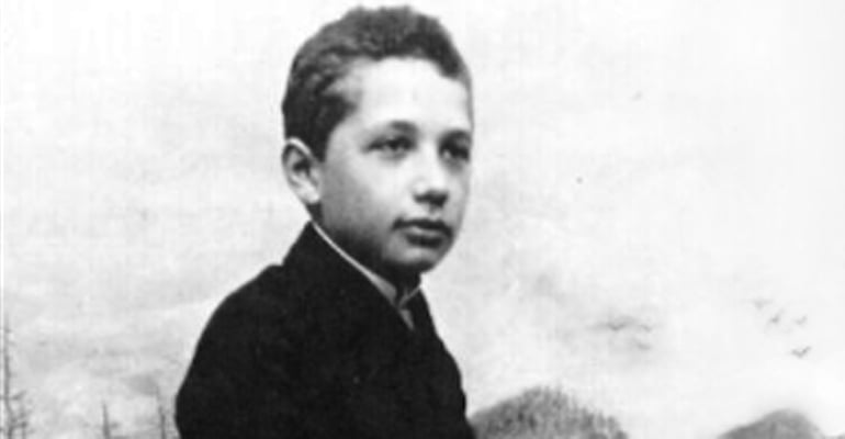 Einstein as a teenager