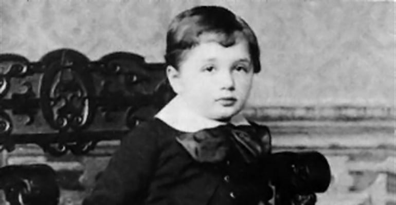 Einstein as a young boy