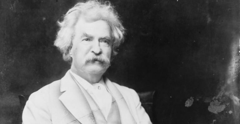 Mark Twain as an older man
