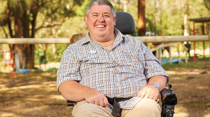 Ricky, a House with No Steps NDIS customer