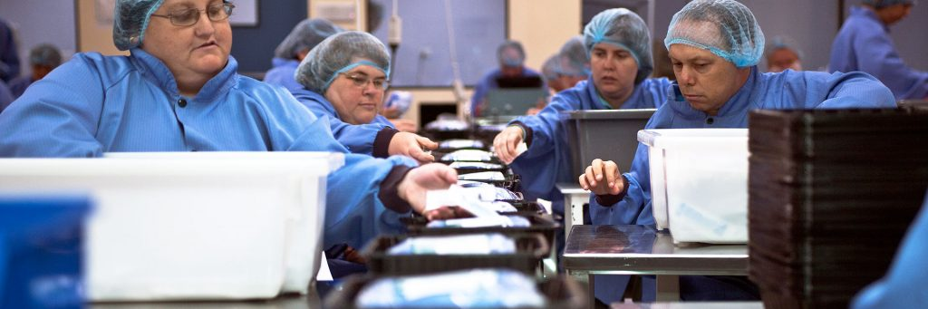 People with a disability working in the medical packs and supplies business