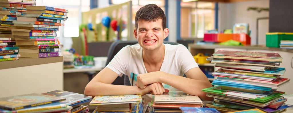 Young man using the NDIS pre-planning tool