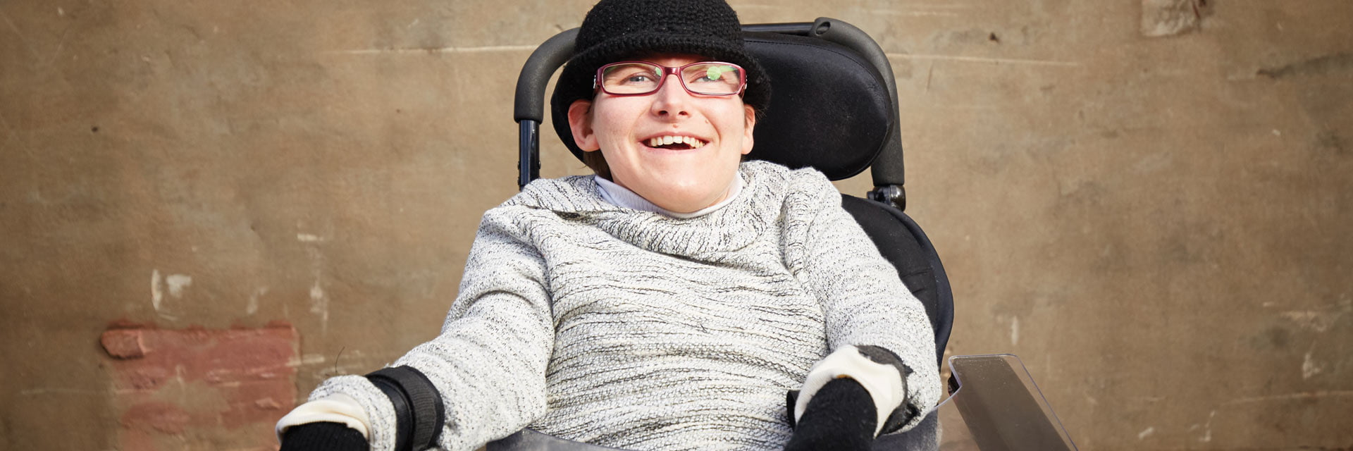Woman with a disability in an occupational therapy service