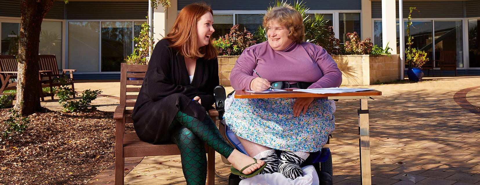 NDIS pre-planning customer with an Aruma Disability Support worker