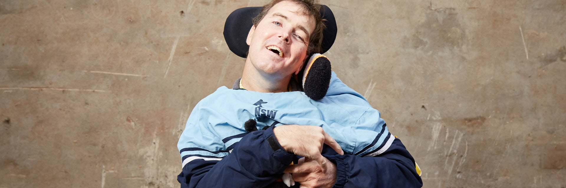 Man with a disability in Specialist Disability Accommodation