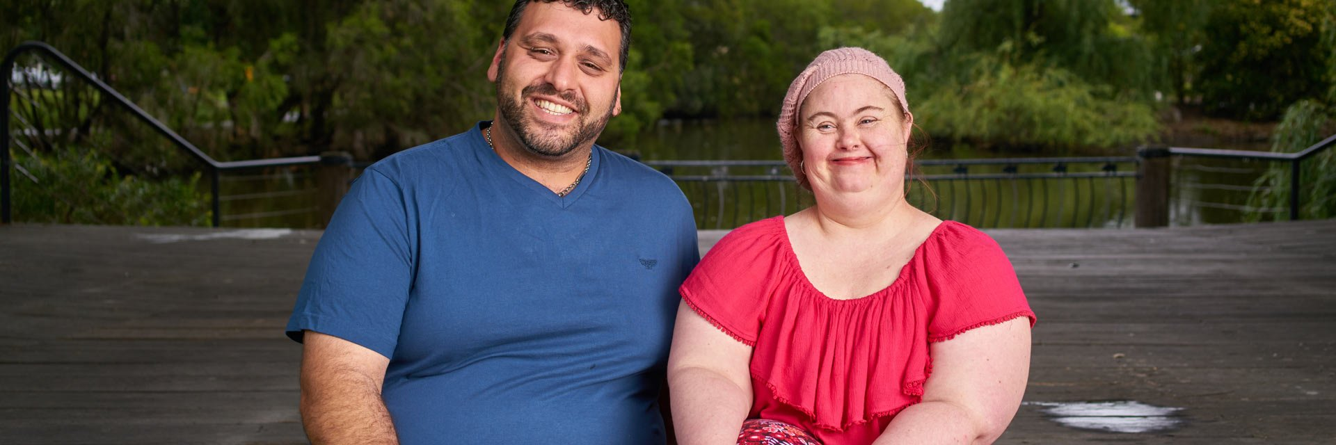 Woman with a disability with a House with No Steps Support Worker