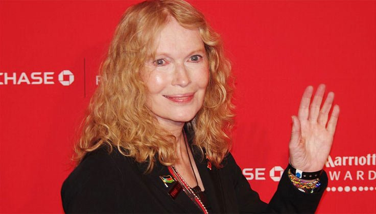Mia Farrow who had polio as a child, at an event