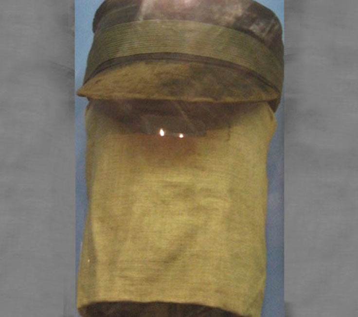 A hood sometimes worn by Joseph Merrick