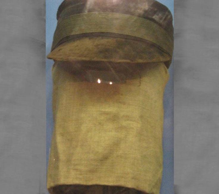 A hood sometimes worn by Joseph Merrick