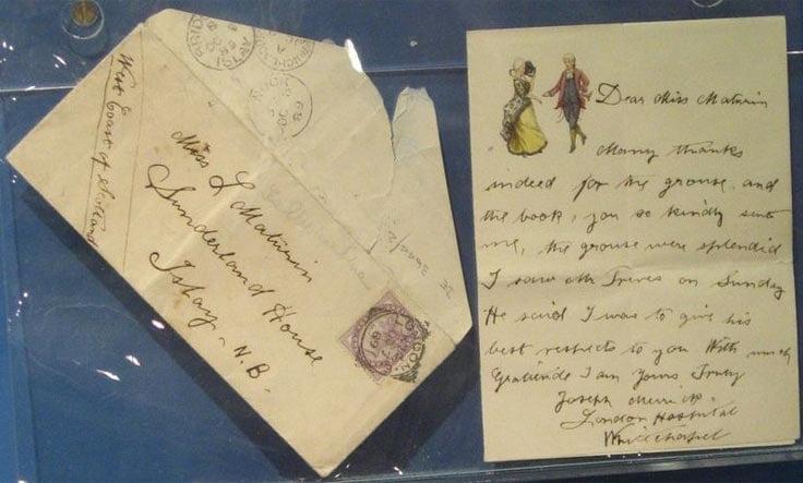 Letter written by Joseph Merrick