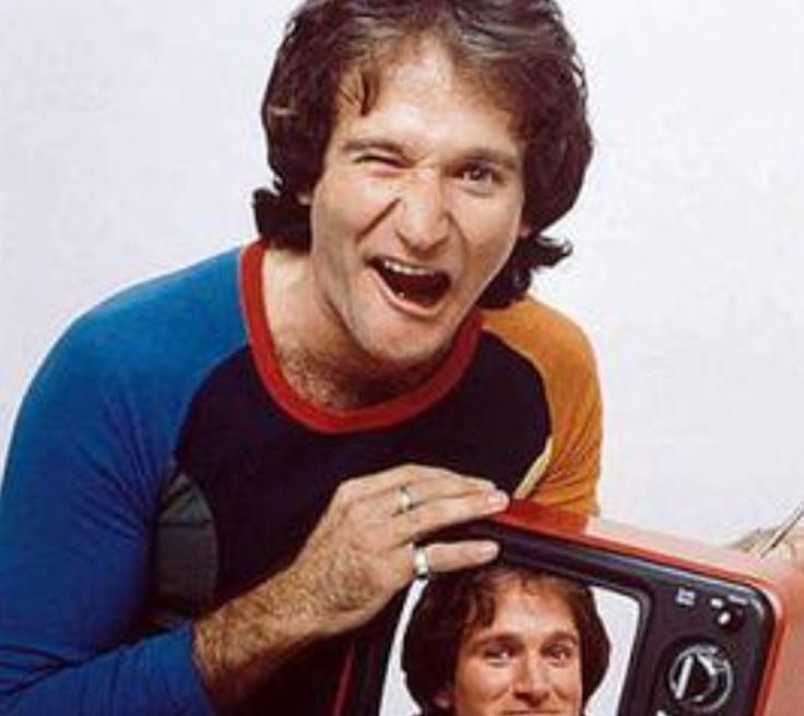 Robin Williams as a young man