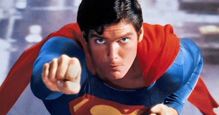 Christopher Reeve in a Superman movie