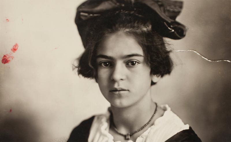 Frida Kahlo as a child in 1919