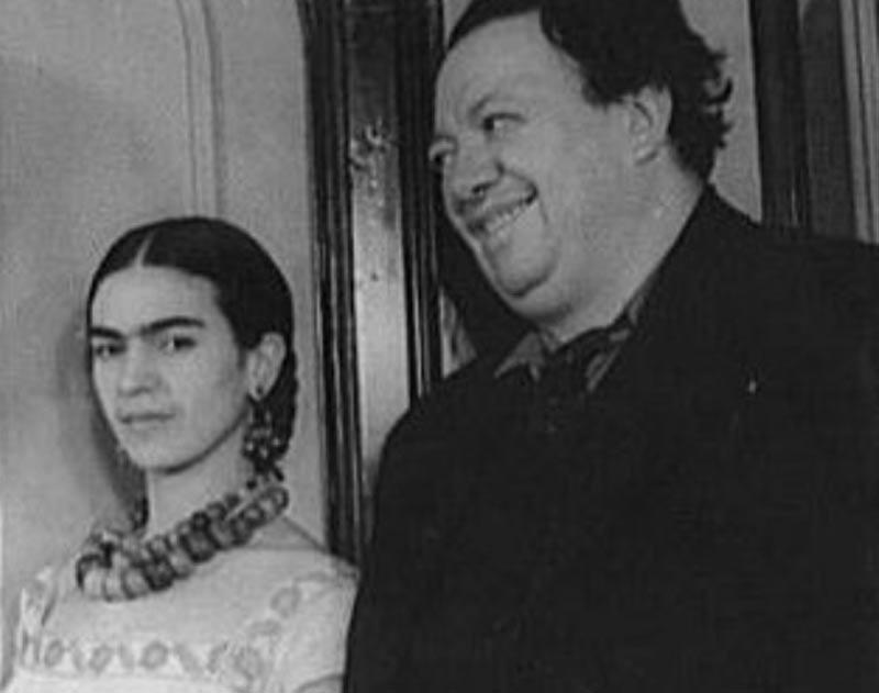 Frida and her husband Diego