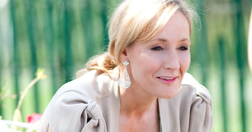 JK Rowling reading from the first Harry Potter book
