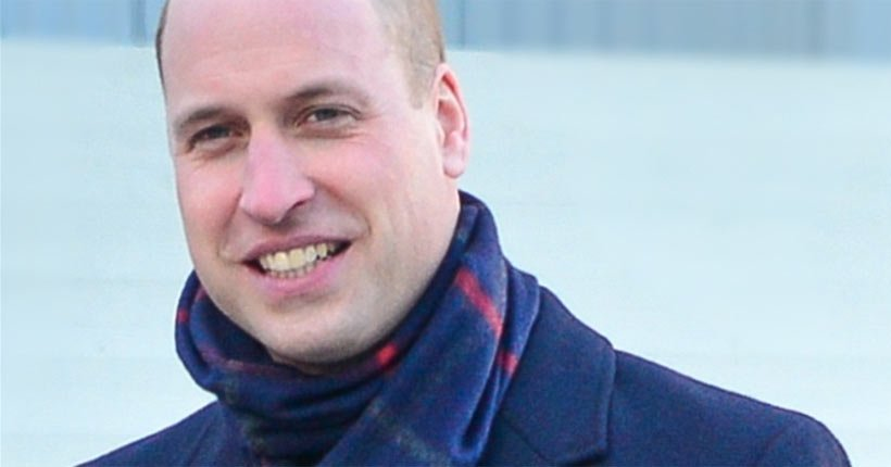 Prince William outside wearing a scarf