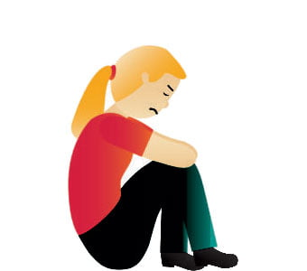 Illustration of a person feeling neglected.