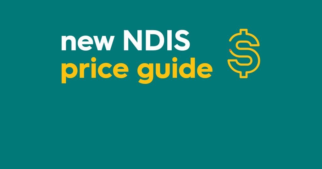 Illustration with words saying 'new NDIS price guide'