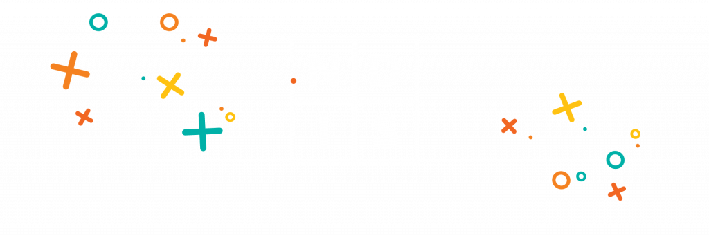 Icon of the word NDIS with decorative stars around it