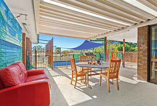 Outdoor area of a SIL property