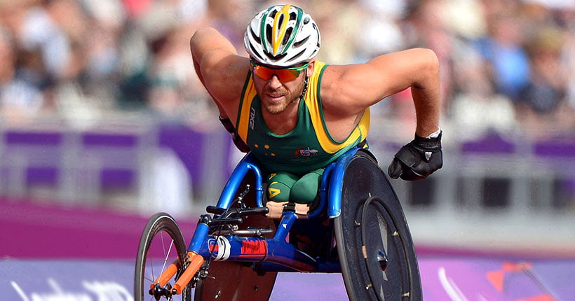 Kurt Fearnley on the track at the London 2012 games