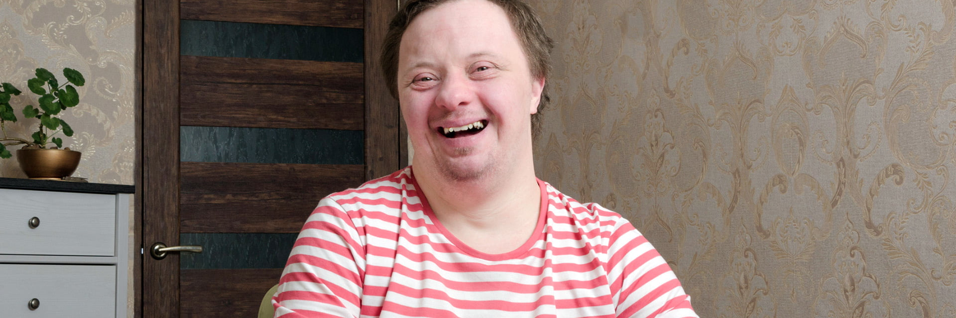 Man with a disability in a Specialist Disability Accommodation Service